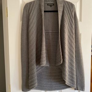 Express gray open cardigan sweater, size small